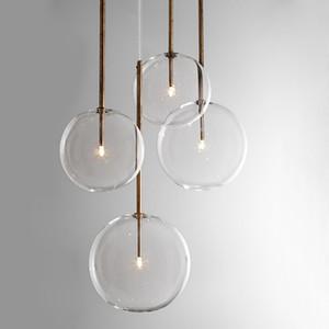 واضح بسيط الإبداعية أضواء بار زجاج مقهى بسيط الثريا الحديد Droplight التجريبية زجاجة Lampr متجمد الزجاج