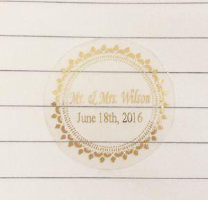 3 cm wedding decoration favors stickers personalise custom waterproof invitation envelops gold transparent seals