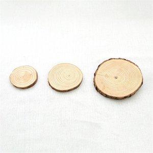 Jahres Runde Wood Chips Weihnachten Holzschild Dekorationen DIY Handbemalte Kiefer hängen Anhänger Holzhandwerk Ornaments