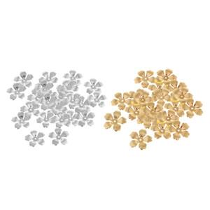 60 Pcs Lot Flor solto Spacer Bead Cap fazer jóias pingente Artesanato DIY Beads tampas para Colar Pulseira Acessórios - 32 milímetros
