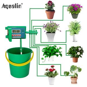 Bahçe için Akıllı Denetleyici ile Ev Bahçe Otomatik Mikro Ev Damlama Sulama Sulama Setleri Sistem Yağmurlama, Bonsai Kapalı Kullanım # 22018