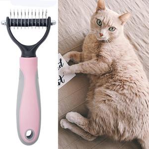 Kedi Köpek Kürk Kesme Dematting Deshedding Fırça Pet Köpekler Epilasyon Tarak Pet Bakım Aracı Hasır Uzun Saç Kıvırcık Tarak BH2297 TQQ
