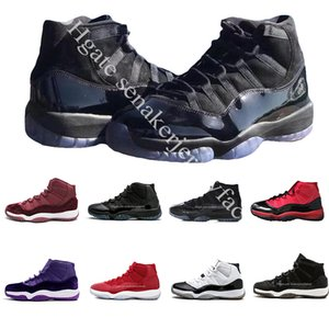 XI Prom Night Casquette et robe Gym Space Space Jam Gagnez comme 96 11s Chaussures de basket-ball Athletic Sports Sneakers taille 5.5-13