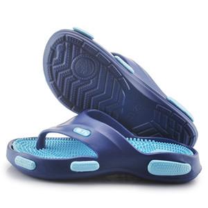 Летние мужские Acupoint флип-флоп открытый отдых пляж скольжения на обувь скольжению массаж ног тапочки Теоретерапия разминание