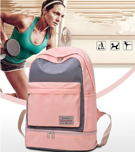 New dry and wet separation bag female fitness yoga bag designer waterproof bag swimming light backpack independent shoe position
