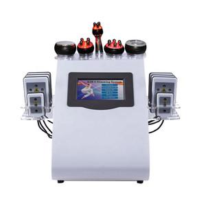 Neue Promotion 6 in 1 Ultraschall Kavitation 40K Vacuum Radio Frequency Lipo Laser Schlankheits-Maschine für freies Verschiffen Spa