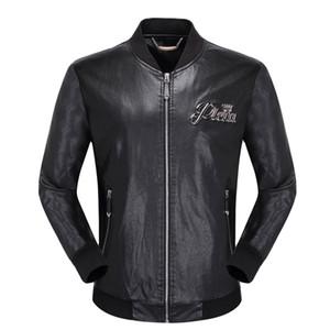 SıCAK tasarımcı marka P erkekler kafatasları Faux Deri ceket hip hop lüks Spor giyim Rahat ceket Yüksek Kalite erkek moda Asya Boyutu M-3XL
