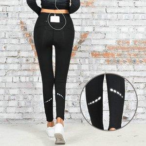 Aipbunny Reflective Stylish Sports Pantalones de yoga de secado rápido para mujer Workout Running Gym Leggins Fitness Medias Leggings de mujer