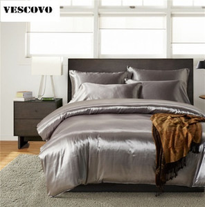 Luxury Mulberry silk bedding sets duvet cover bedspread bed sheet king queen full size T200706