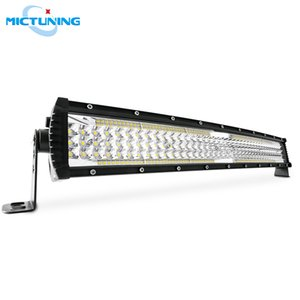 """MICTUNING 22"""" Five-row Curved Auto LED Light Bar 13000LM Spot Flood Combo Beam Offroad Driving Fog Lamp for SUV Trucks Boat"""