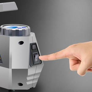 Портативный пневматический компрессор шины Inflator - автомобильный шинный насос с цифровым манометром (150 фунтов на квадратный дюйм 12 В постоянного тока), яркий аварийный фонарик