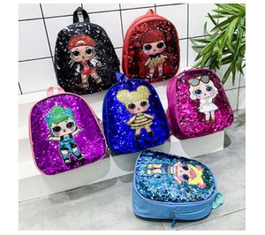 2019 new Children's backpack Cartoon Unicorn Sequins Teenagers Anime Kids Student School Bag Travel Bling Rucksack Bags For Kid and Adult
