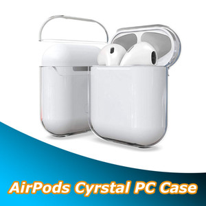 Para AirPods 1 2 3 Transparente Crystal Clear PC Caso duro de carregamento Box fone Caso Coque