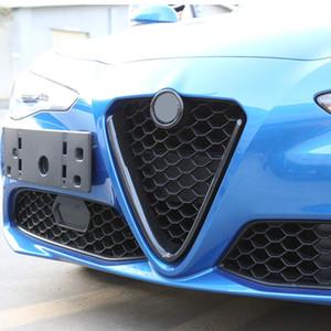 Carbono Fibra Estilo ABS Plástico Frente Grelhados Decoração Do Quadro De Decoração Para Alfa Romeo Giulia 2017 2018 2019