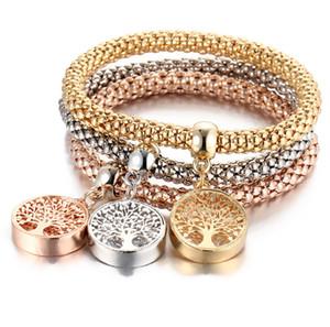 2018 Yeni Varış Sıcak Satış Unisex 3 Adet / takım Kristal Baykuş Kalp Charm Bilezik Bilezik Altın / gümüş Kaplama Fil Çapa Kolye Kadınlar için