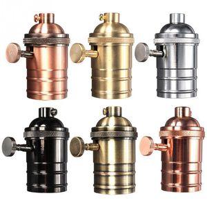 Lâmpada de Edison Vintage soquete E26 / E27 Screw Bulb base da lâmpada de alumínio Titular Retro industrial Pendant Fittings Casquilhos de fixação
