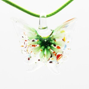 fashion 12style girl accessories pendant butterfly necklace lampwork pendants murano glass pendant necklace beautiful necklaces pendants sup