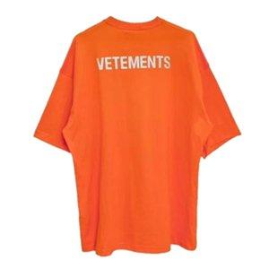 남성 T 셔츠 하이 스트리트 18SS 3M 반사 특대 짧은 소매 여성 T 셔츠 캐주얼 의류 S-L