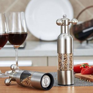 Stainless Steel Pepper Mill Faucet Shape Pepper Grinder Manual Salt Ceramic Core Grinder Home Kitchen Tool ZA4981