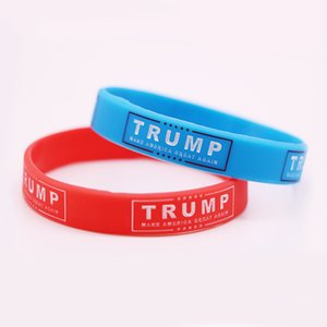 Echootime 1000PCS ترامب إبقاء أمريكا العظمى مجوهرات 2020 سيليكون معصمه الأحمر الأزرق ترامب فرقة دعم المطاط أساور موضة هدايا