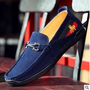 loafer shoes Осенью случайной круглой обувь головы мужской обуви xshfbcl английского реальные кожаная низкой помощи DouDou педаль вождение обуви