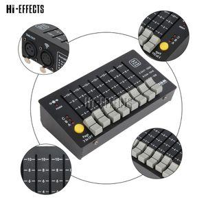 헤드 무대 조명 장비를 이동하는 DMX 컨트롤러 휴대용 미니 콘솔 24 개 채널 무대 조명 컨트롤러