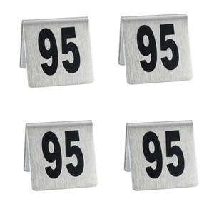 Красный Стол Таблицы Таблички с Номером Из Нержавеющей Стали Настольные Номера Тарелок Ресторан Таблицы Знаки Карты Горячий Продавать 2 2jd L1