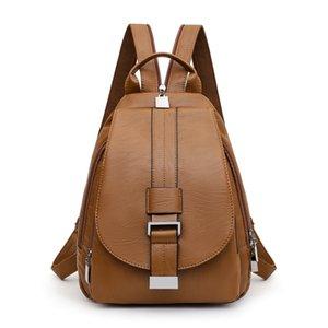 Women Leather Backpack High Quality Backpack For School Teenagers Girl Sac A Dos Travel Bagpack Ladies Mochila Feminina New2020