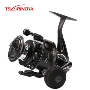 TSURINOYA Spinning Fishing Reel Full Metal ESPÍRITO Série TSP Reel Fishing 4000 5000 Arraste 12 kg 12BB Água salgada Feeder