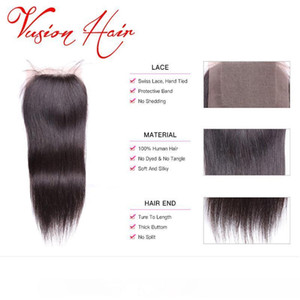 C vague de corps du Brésil Cheveux Tissages 4x4 Fermeture Unprcoessed humaine Extensions de cheveux Bonne Cheap Mink Brazlilian corps Fermeture vague
