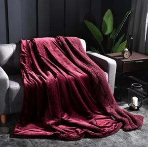 Soft Coral Fleece Blanket Flanell Decken Winter verdicken Wohnzimmer Sofa werfen Handtuch Startseite Decke Feind erwachsen LXL975-1
