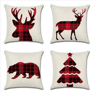 venda quente tema nova capa fronha Natal almofada silhueta rede exclusivo veados carro árvore capa de almofada casa do Natal do urso