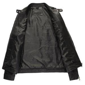 Spring Autumn Genuine Leather Jacket Men Clothes 2020 Sheepskin Coat for Men Plus Size Men Leather Jacket 19-810 KJ1309
