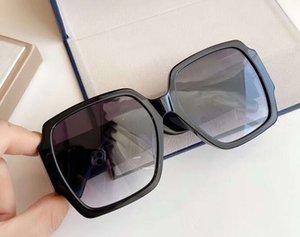 Moda Quadrado Belas Óculos Nova Lente Cinzenta Óculos de Sol Crazy Quadro Preto Quadro Mulheres Sunglasses Sun com 2603 sqkmm