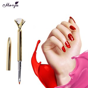 Venta al por mayor Cabeza de metal Nail Art Dotting Pen Drill Point Flor Línea Pintura Dibujo UV Gel Polish Extraíble Nail Art Tool