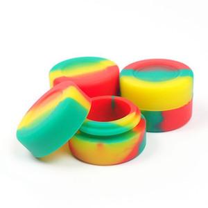 Karışık Renkler Yapışmaz Wax Yuvarlak Silikon Kavanozlar Dab Wax Konteyner Silikon Wax Depolama Kavanoz Karışık Renk Aracı Konteynerler 26 * 17mm BH2196 CY