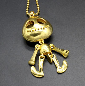 Colar de moda generosos olhos UFO alienígena Crânio Mulher Colar Colar de moda Parágrafo Luxurious! WL1001