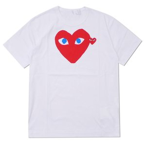 2019 COM wholesale New New Hot HOLIDAY Heart Emoji GARCONS Japanese White Black Polka Dots Heart White T Shirt Mens Womens