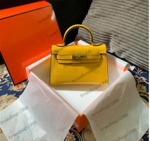 Vera pelle Mini Bag 19CM Alligator Moda Borse donne Totes i sacchetti di spalla delle donne della borsa di fabbrica trasporto libero all'ingrosso