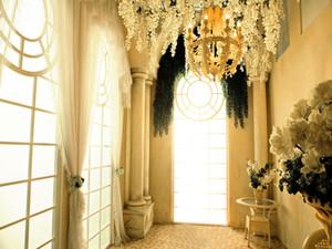 Sfondi europea coperta tenda della finestra vinile fondali fotografia Flowers Lampadari Photo Booth per Wedding Studio Puntelli