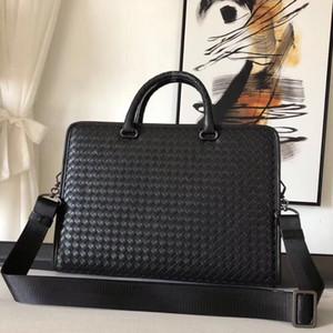 Pure tissés à la main avec porte-documents d'affaires en cuir de veau pour les compteurs de site officiel de luxe de la mode hommes vendant des sacs à main en or dian en gros