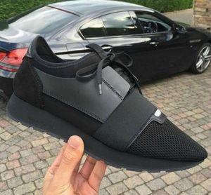 Arena de moda para hombres High-top Bovine skin antiarrugas crack Leather Lace Up zapatos hombre Zapatillas de deporte de estilo francés kanye west Zapatos