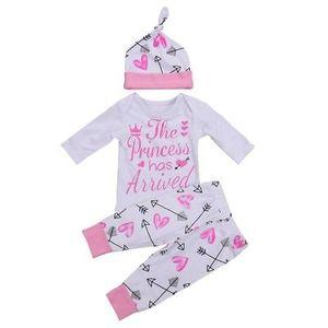 US Neugeborene Kleinkind-Baby-Kleidung Liebesbrief gedruckt Spielanzug-Overall + Pants Ballon- Bat + Bow Tie Stirnband Outfits Set 0-24M