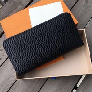 2020 Дизайнер мужской Бизнес бумажники Роскошные женщины руки сумка Человек Формальное кошелек Мода Классический черный кошелек высокого качества