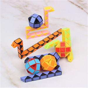 Quebra-cabeça Mini Magic Cube Crianças Criativas 3D Cobra Forma Mutável Magic Cube Jogo Brinquedos Twisty Apaziguador Coleção Brinquedos Cobra