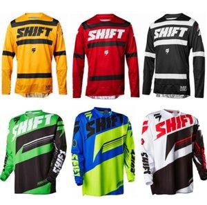 mudar downhill primavera terno e no Outono de manga comprida T-shirt camisa exterior bicicleta mountain bike off-road vestuário motocicleta