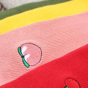 aliexpress Harajuku Kühler skateborad Kurzregenbogen-Socken-Kunst Mode-Cotton Hipster Cartoon Farbige Socken weiblich