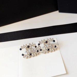 C1941 feuille de cristal coréenne 925 aiguille mode stud oreille femme délicate zircone cubique boucles d'oreilles géométriques