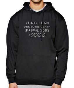 Heißer Verkauf Hoody Für Männer Sweatshirt 2017 Frühling Winter Hoodies Herren Yung LEAN UNBEKANNT TOD Brief Drucken Sportler Tragen Harajuku