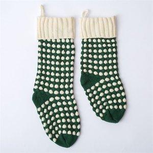 46cm Wolle gestrickte Anhänger Geschenk-Socken-Weihnachtsbaum-Dekor-Candy Bag Großes Strumpf Weiß, Grün, Rot Socken 12mxa Ww